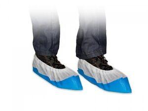 50 Qualité Puissant Relief Bleu Couvre-chaussures Jetables Plastique Chaussures ModèLes à La Mode