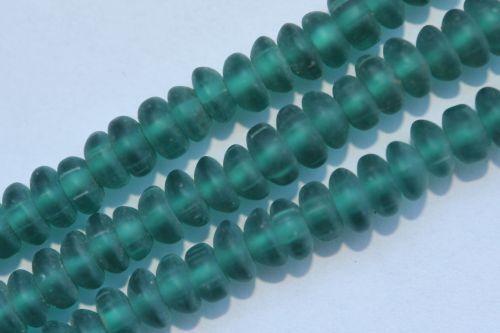 Ai6-13 100 perles de verre lentilles 6 mm petrol Mat