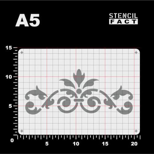 A5 Schablone Akanthus Ornament Spiralranke BE564