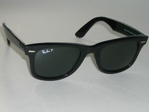 1af24900a581c RAY BAN RB2140 50  20mm THICK SHINY BLACK POLARIZED WAYFARERS ...