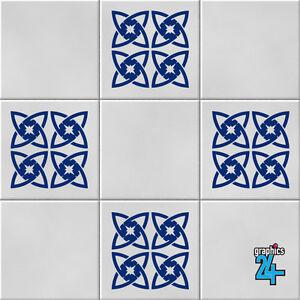 Retro Shape Vinyl Wall Tile Stickers Decals Kitchen ...