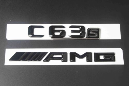 """Gloss Black Letters /""""C 63S //////AMG/"""" Trunk Badge Emblem Sticker for Benz C63S AMG"""