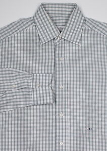 5b9801a3a LORO PIANA * Recent Custom Green/Purple/White Check Dress Shirt (40 ...