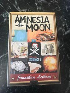 1995-Amnesia-Moon-Jonathan-Lethem-Rare-Signed-HC-DJ-SF-1st-Ed-Vtg-Book-Mint