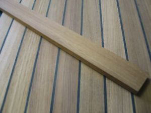 "TEAK LUMBER DECK FLOORING BOARDS - 3/4"" x 1 7/8"" x 7FT"