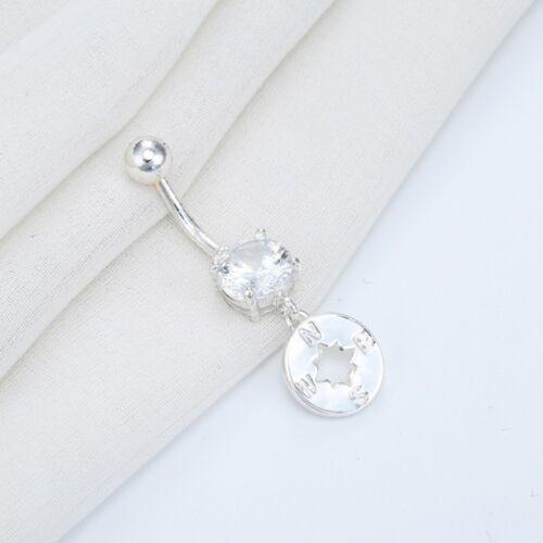 Body Jewelry CZ Piercing Belly Button Rings Women Navel Piercing Compass Dangle