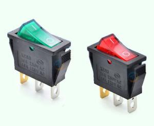 10PCS On//Off Large Rectangle Rocker Switch Lighted Car Dash Boat 3-Pin SPST 12V