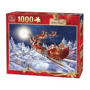 1000 Piece Christmas Jigsaw Puzzle Santa's Sleigh Ride on Christmas Eve 05601