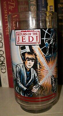 1983 Star Wars Return the Jedi  Burger King Glass Luke Darth Vader Emperor NOS