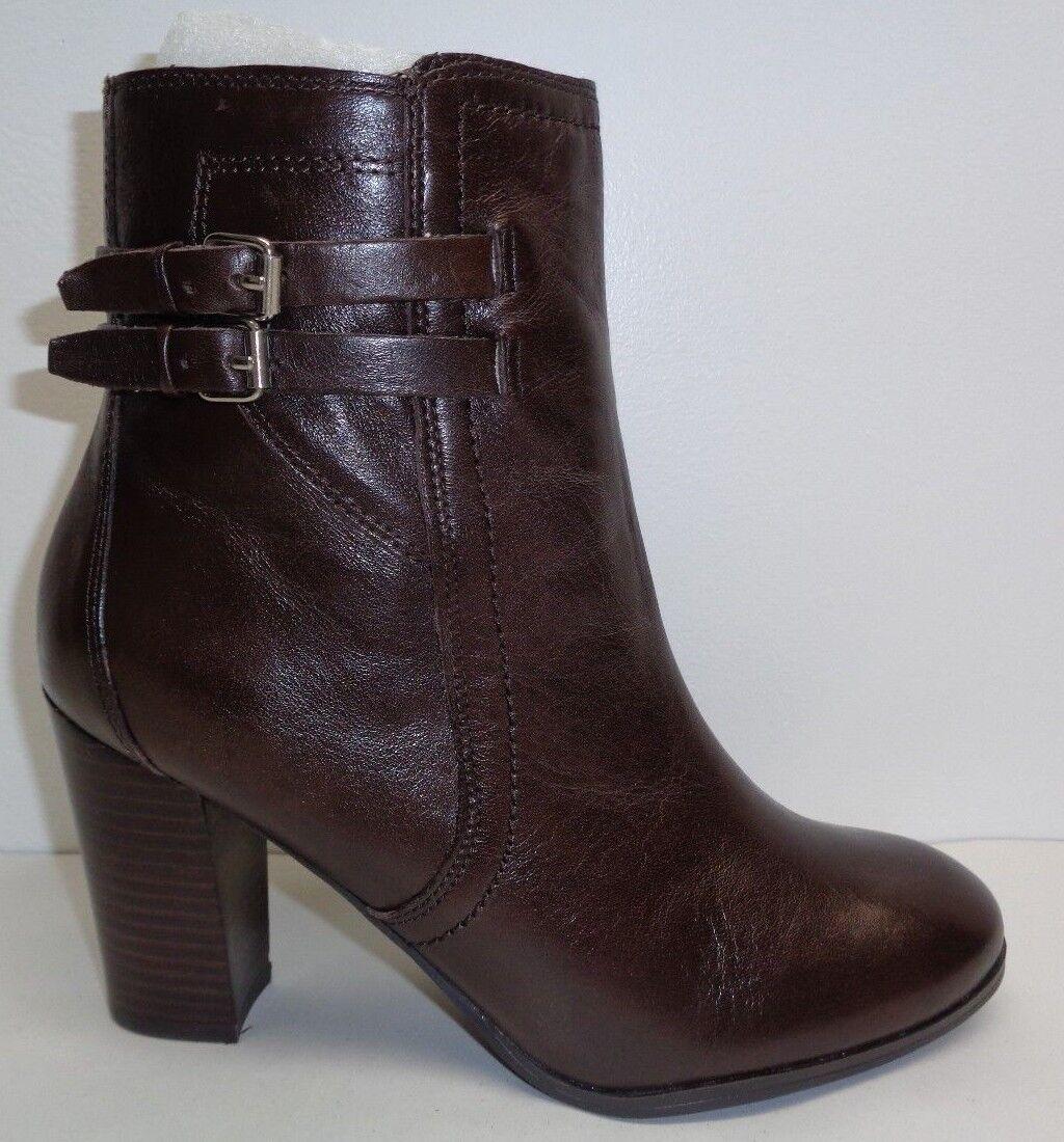 Marc Fisher Größe 8 M KATTIE Dark Braun Leder Ankle Stiefel NEU Damenschuhe Schuhes