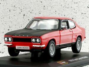 FORD Capri RS 2600 - 1970 - red / black - Bburago 1:32