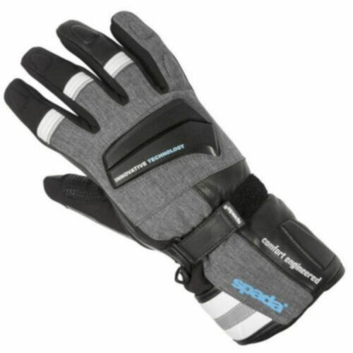 Spada Latour Summer Motorcycle Motorbike Leather Touring Gloves Black//Grey