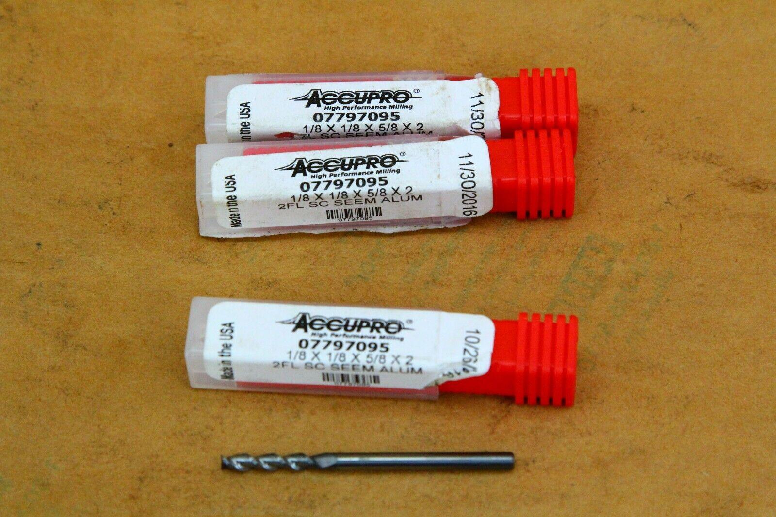 "4FL Accupro 07771371 Carbide Sq 3//16 x 3//16 x 5//8 x 2/"" USA TiCN End Mill"