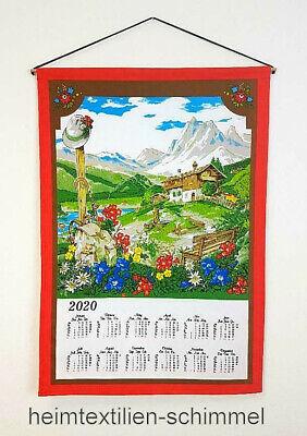 Stoffkalender 45x65cm Jagd ohne Holzstab+Kordel Textilkalender 2020