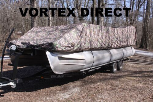 NEW VORTEX COMBO PACK CAMO 20 FT ULTRA PONTOON//DECK BOAT COVER+SUPPORT SYSTEM