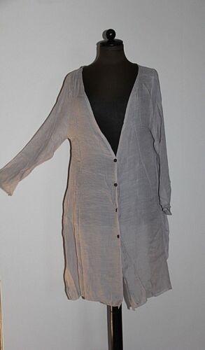 Cotone 40 Cardigan Giacca Donna Asimmetrico Grigio Lino in Lungo Gr Aqvwg