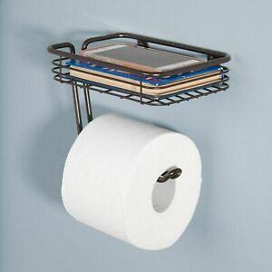 InterDesign Tissue Holder Toilet Paper Storage Organizer Bathroom Rack Chrome