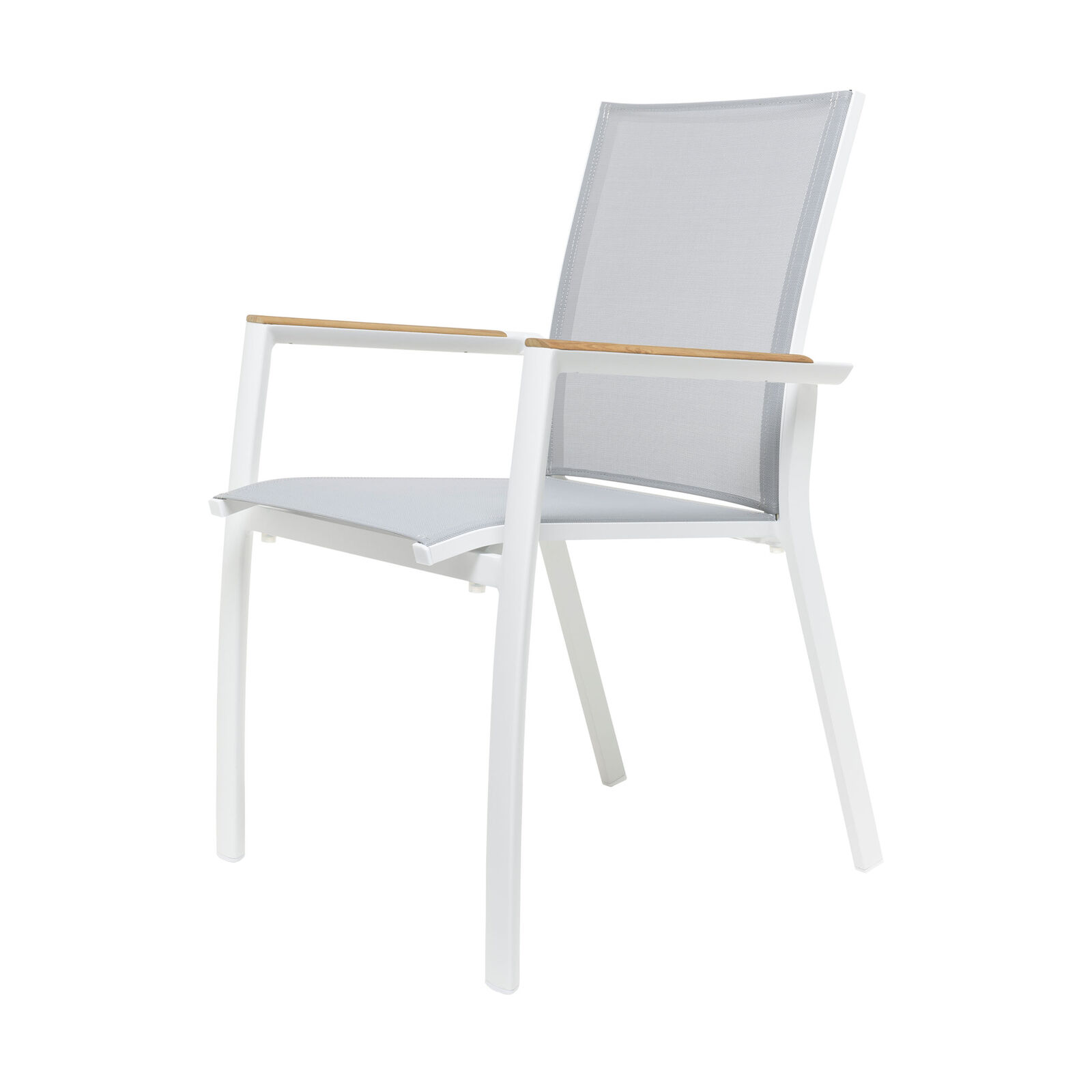 Cadiz Stapelsessel weiß-hellgrau weiß hellgrau 62 x x x 57 cm h 89 cm 0d93c5
