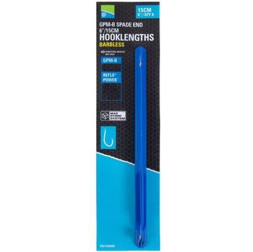 "Preston Innovations GPM-B Mag Store 6/"" Spade End Hooklengths Full Range"