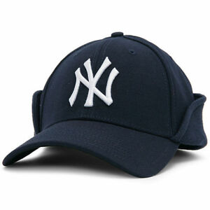20bf1a5a13f Image is loading New-Era-39Thirty-MLB-NY-Yankees-Downflap-Stretch-