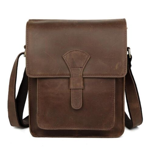 Men/'s Rustic Genuine Leather Messenger Shoulder Bag Small Cross Body Satchel New