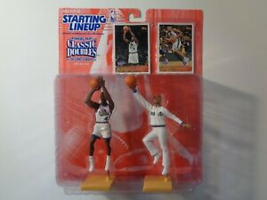 Starting Lineup Sports Figurine, Kenner, 1997 Joe Dumars, Grant Hill, Doubles