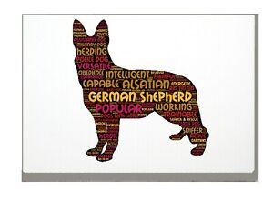 German-Shepherd-Art-Print-Word-Art-A4-A3-Mothers-Day-Gift-Personalised-Option