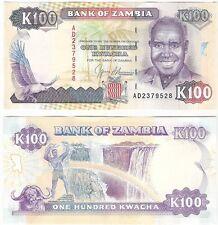 Zambia 100 Kwacha 1991 P-34a NEUF UNC Uncirculated Banknote