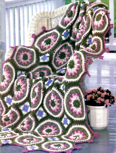 EXQUISITE Springtime Floral Parade Afghan//Crochet Pattern INSTRUCTIONS ONLY