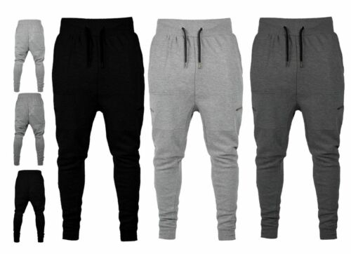 New Mens Slim Fit Pique Tracksuit Bottom Skinny Jogging Joggers SweatS Trousers