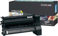 Genuine Lexmark C782 X782 Toners Cartridge Yellow / Cyan C782x1cg / C782x1yg