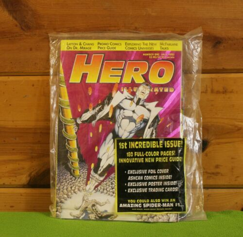 CARDS STILL SEALED *BUY 1 COMIC GET 1 FREE* HERO ILLUSTRATED #1 FOIL COVER