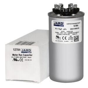 7.5 uf MFD 370 440 VAC Round Dual Capacitor 12784 Replaces C33575R C43575R 35