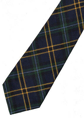 100/% Wool Tartan Neck Tie Scott Green Ancient