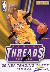 2015-16-Panini-THREADS-Basketball-Factory-Sealed-Blaster-Box-2-AUTOGRAPH-MEM