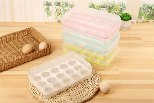 15 grids Plastic eggs refrigerator storage box kitchen outdoor picnic packaging