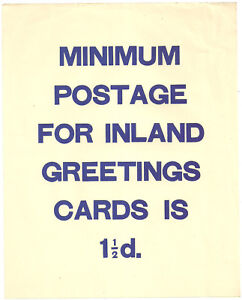 Post office gpo noticeleaflet minimum postage for inland greeting image is loading post office gpo notice leaflet minimum postage for m4hsunfo
