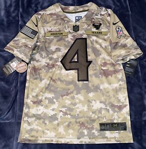 Details about Deshaun Watson Houston Texans Salute to Service Army Camo AUTHENTIC Jersey