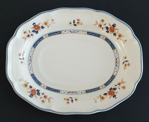 Mikasa Heritage Japonica Underplate for Gravy Boat Made in Japan Blue Floral