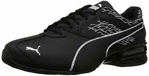PUMA-Mens-Tazon-6-Fracture-FM-Low-Top-Lace-Up-Fashion-Sneakers-Black-Size-8-5