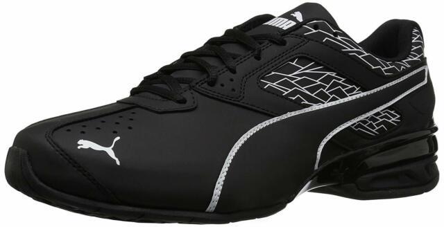 PUMA Mens Tazon 6 Fracture FM Low Top Lace Up Fashion Sneakers, Black, Size 8.5