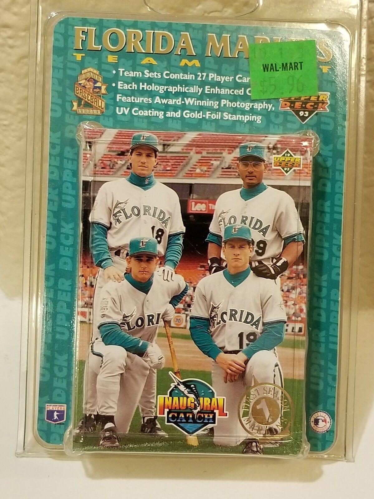 Orestes Destrade Jeff Conine 1st Year for Marlins 1993 Florida Marlins Upper Deck Baseball Team Set