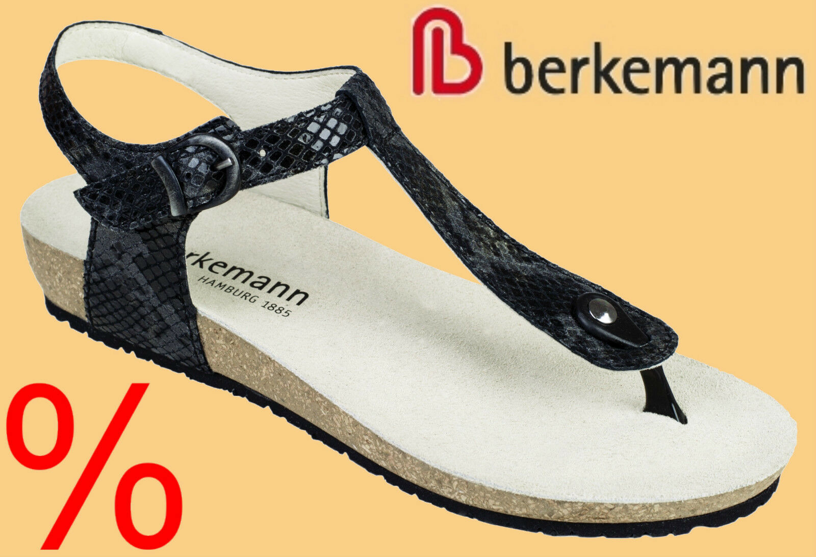 Berkemann Zehentrenner Sandalen Sandaletten Lola Damen 5 6 7 8 rotUZIERT
