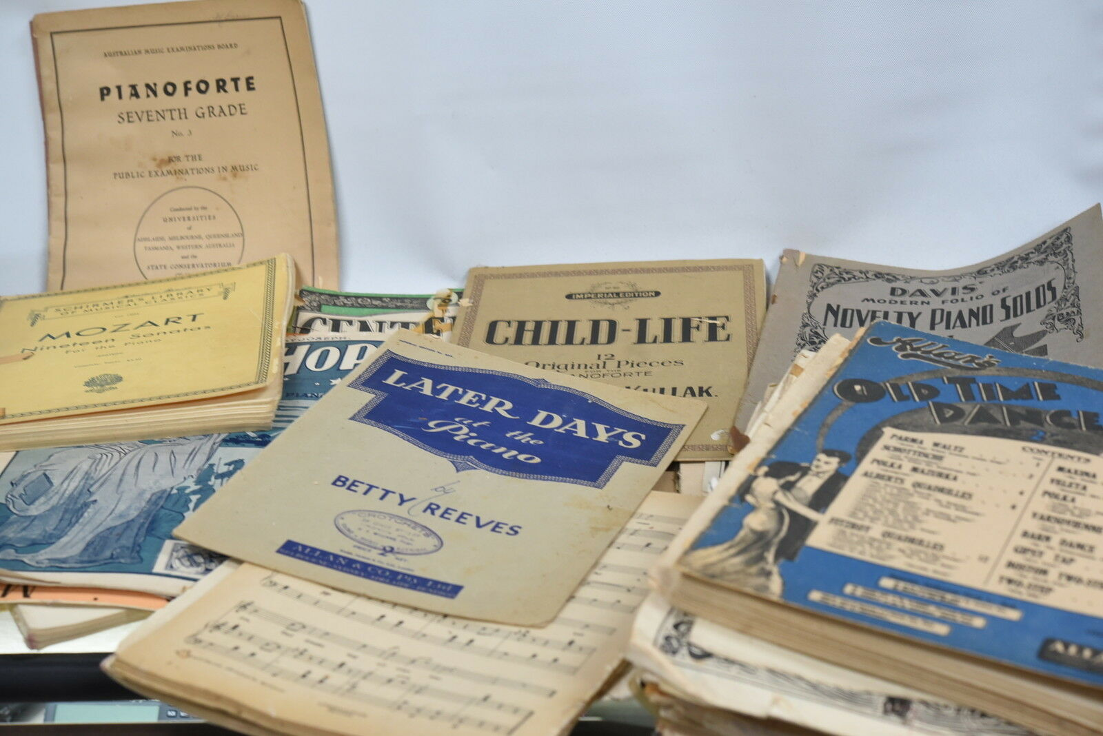 Assorted Classical Piano Sheet Music - Approximately 20 books - Vintage