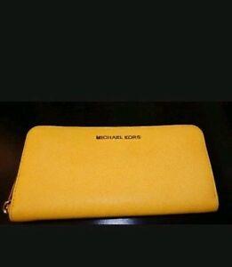 0957ee3b8951c2 Michael Kors Jet Set Travel Citrus Zip Around Continental Wallet ...