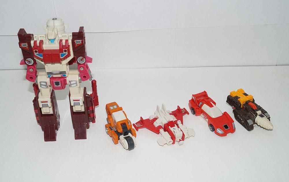 Lot Lightspeed Scattershot Nosecone Strafe Afterburner --- 1987 G1 Transformers