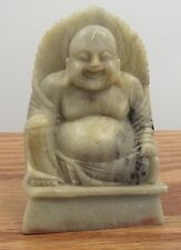 Vintage Chinese chop seal/stamp hand carved stone buddha statue Helen name