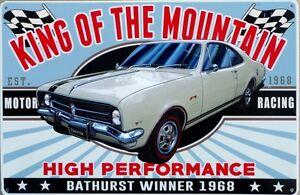 KING-OF-THE-MOUNTAIN-MONARO-TWO-DOOR-1968-327-Auto-Memorabilia-Metal-tin-Sign