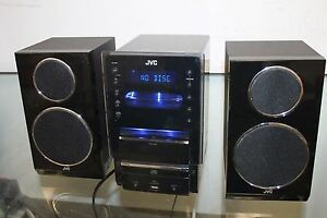 Image Is Loading JVC Stereo BookShelf System IPod Dock AM FM