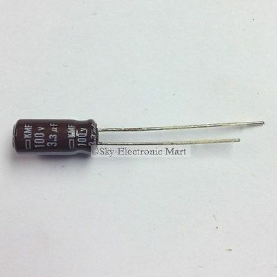 50x Electrolytic Capacitor Condensateurs électrolytiques 3,3uF 100V 3.3uF Radial